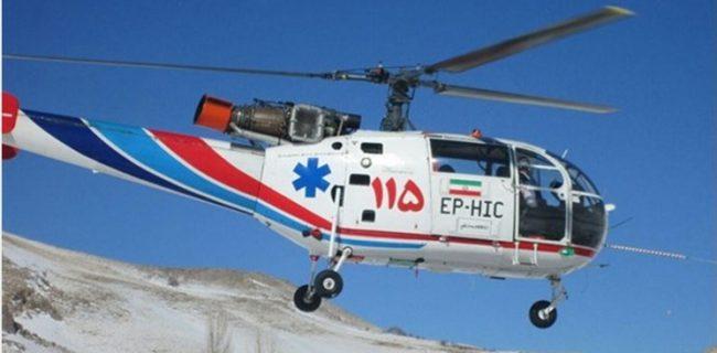 نجات پسر بچه ۸ ساله و مادر باردار توسط اورژانس هوایی در لرستان