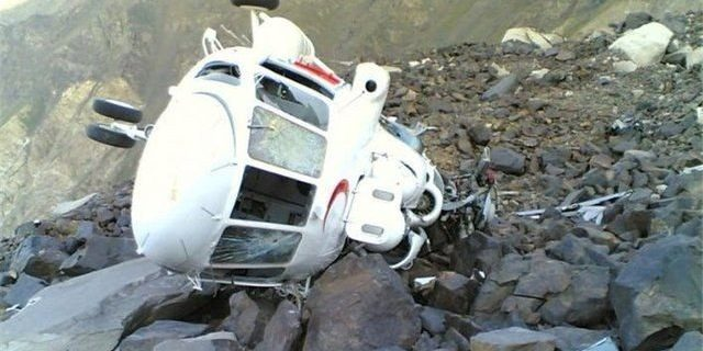 سقوط یک فروند بالگرد در ارتفاعات شهرستان الیگودرز
