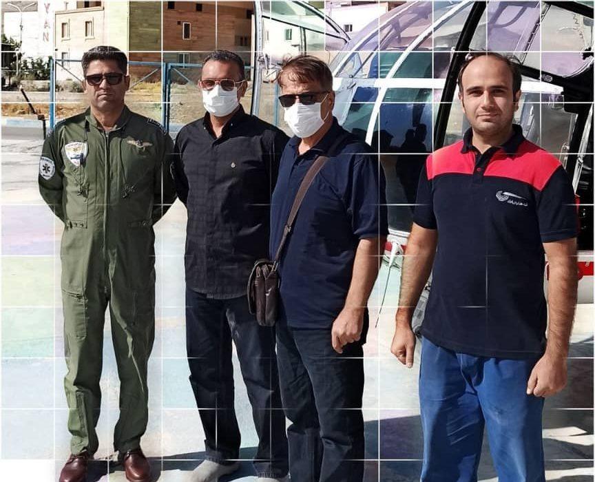 نجات بيمار مشكوك به حمله قلبي توسط اورژانس هوايي اليگودرز